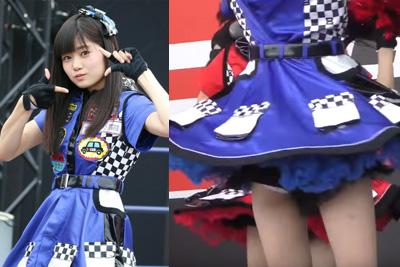 【アイドル パンチラ】AKB中野郁海のハミ大パンチラ映像がこちらww 問題のシーン2:59