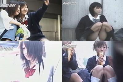 【JKパンティ前から望遠盗撮】『クレープを美味しそうに食べてる激カワ女子校生』♪