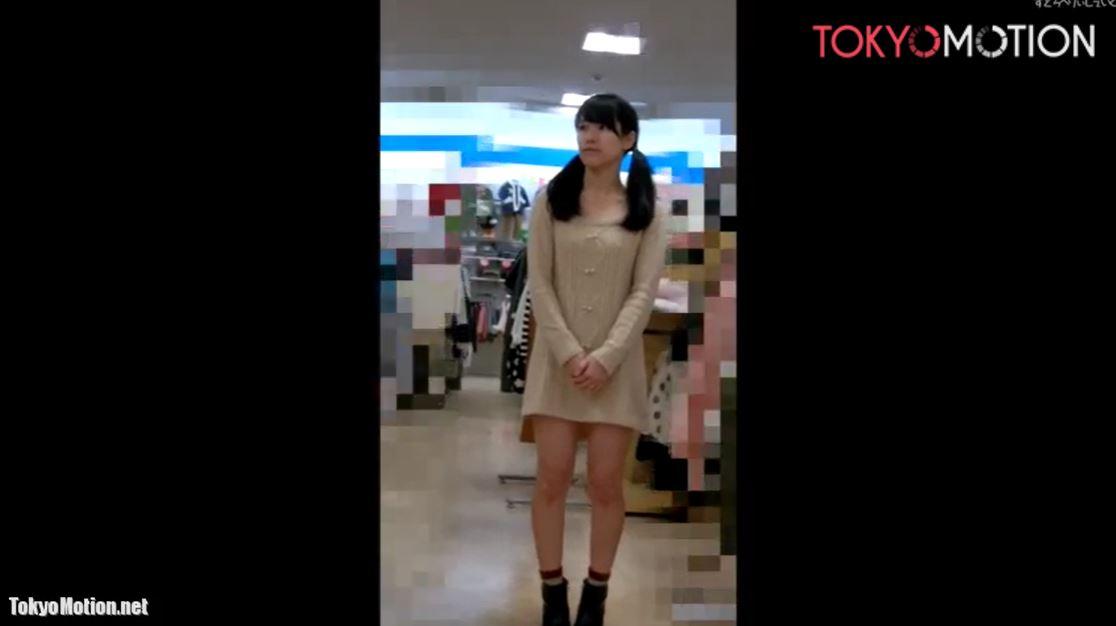 《ツインテール美少女のパンティを正面&逆さ盗撮》『ホワイトパンティ♡』