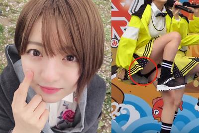 【アイドル パンチラ】AKBのJK佐藤七海がライブで純白パンティはみ出しながら歌っとるww 問題のシーン20:46