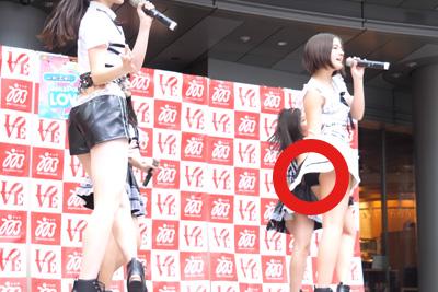 【アイドル パンチラ】ハーフ系JKアイドルがブルマから白パンツはみ出してる件ww 問題のシーン4:46 他