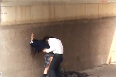 お金がない〇校正が白昼に橋の下で青姦してる現場を奇跡の撮影ww