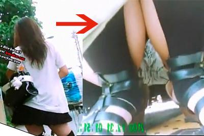 《盗撮》道を聞くふりしてパンツを盗撮♪イケイケギャル女子校生に声かけ、地図の下に忍ばせたカメラでパンチラ撮影w