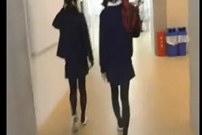 《個人撮影》放課後の教室で友達ふざけあってオナニーを撮影し合う動画がネットに流出ww